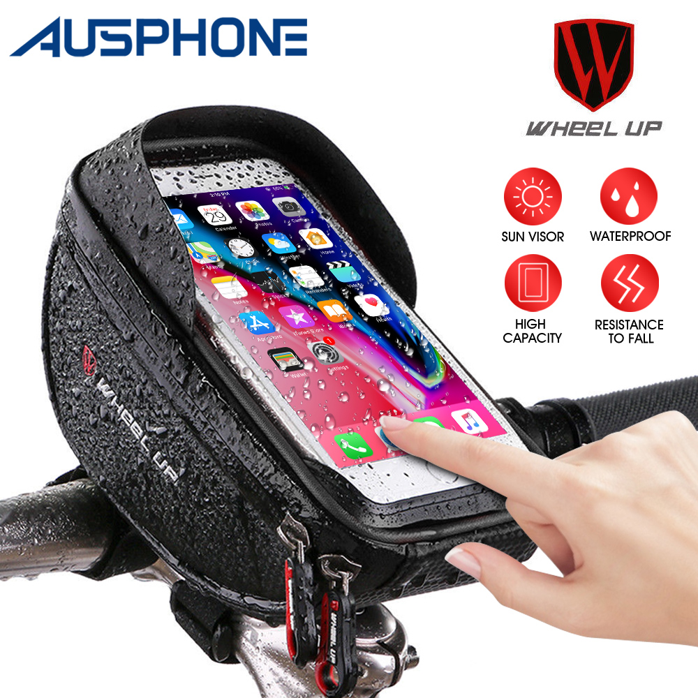 Bycicle Handlebar Touch Screen Bike Bag Case Mount Holder For Cell Phone 6.5/'/'