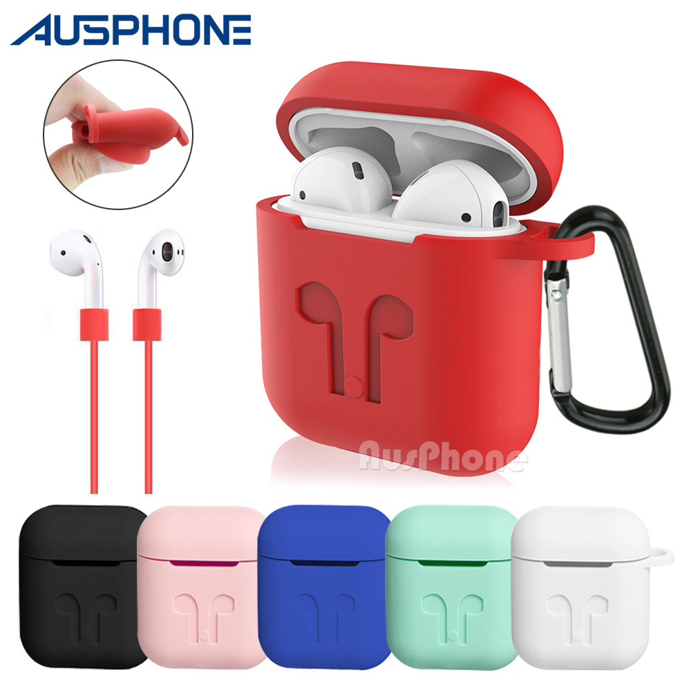 TPE Case Cover Skin anti-lost strap for Apple iphone airpods Wireless Headset