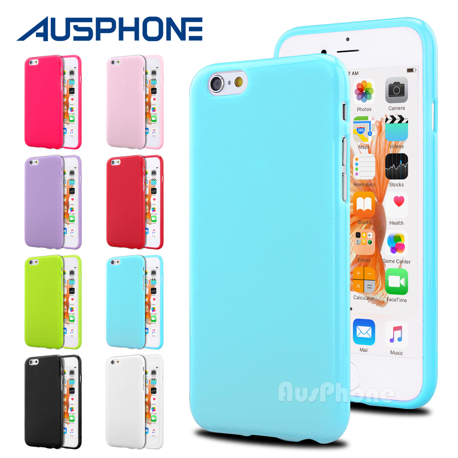 save off 8328d ac6f5 Details about Jelly Slim Soft Silicone Gel TPU Case Cover for Apple iPhone  X 8 Plus 8 7 6s 5S