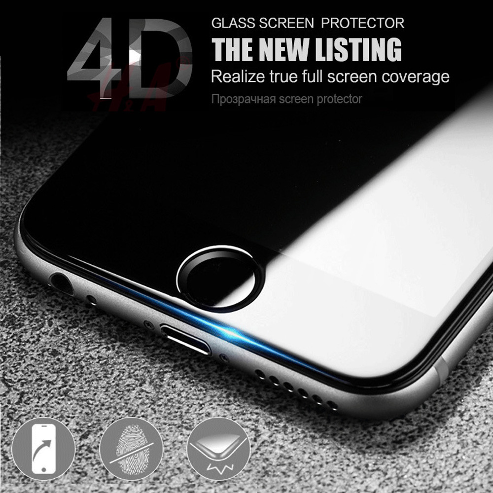 Iphone X 8 7 6s Plus 5s Se 4d Full Cover Tempered Glass Screen 6 3d Clear Premium 2x Protector For Apple