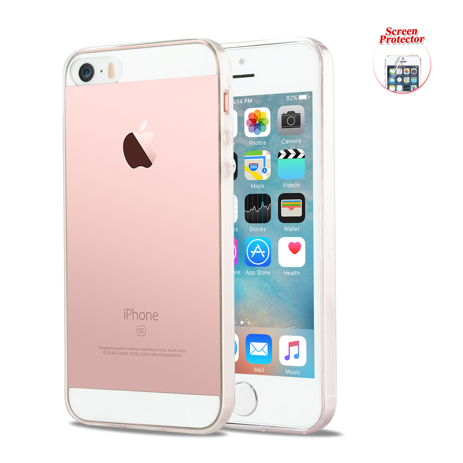 new product 51e41 ad07f Details about Ultra Clear Crystal Transparent Soft Gel Cover Case for Apple  iPhone 5S SE 5