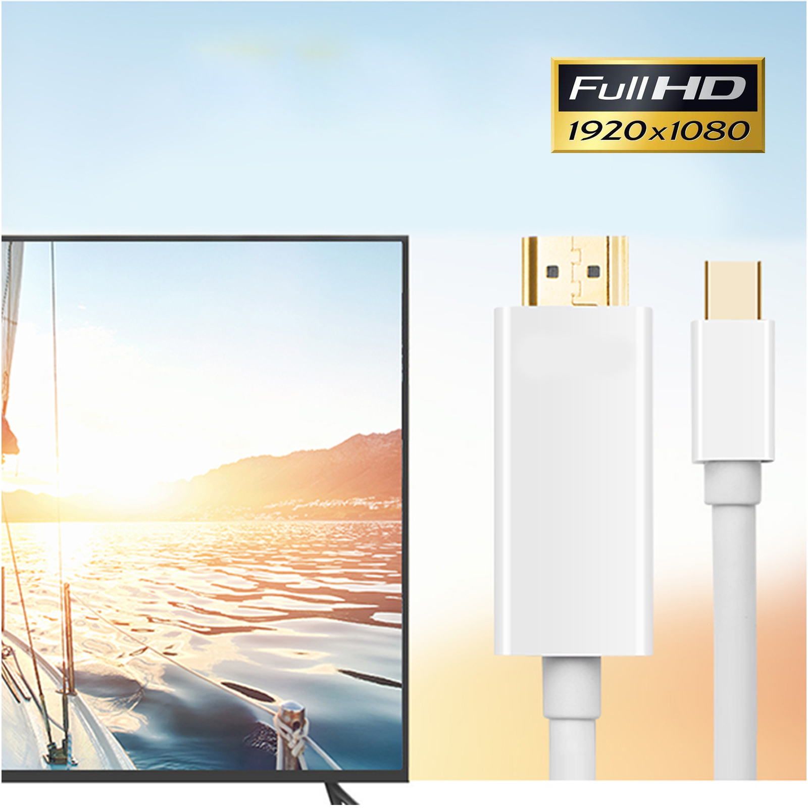 1.8M/6FT Mini DisplayPort to HDMI TV Cable For Microsoft Surface Pro ...