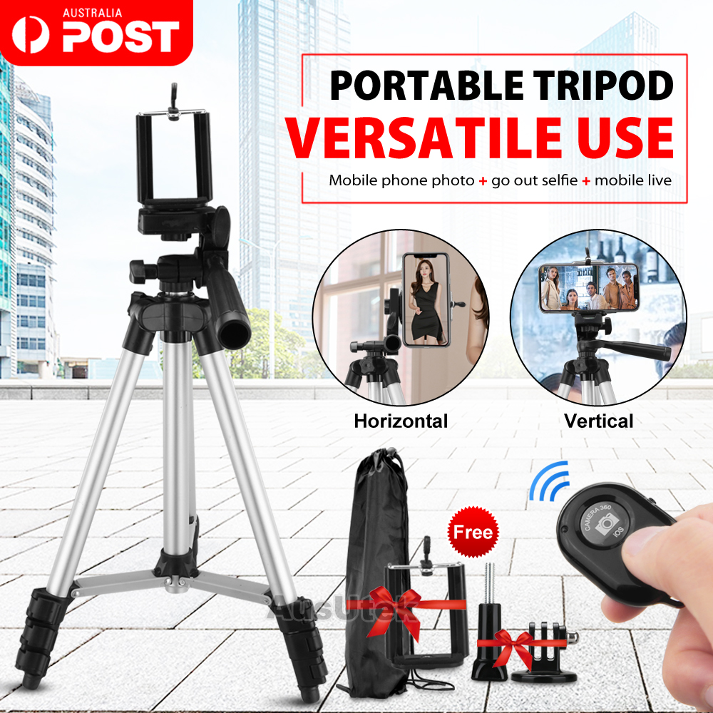 Selfie Stick monopod Tripod clamp Phone Tripod Adapter ~ Adjustable Non-Slip Grip fit All Phones ~ Vertical /& Horizontal Rotary Adjustment ~ 360 Swivel Phone Holder