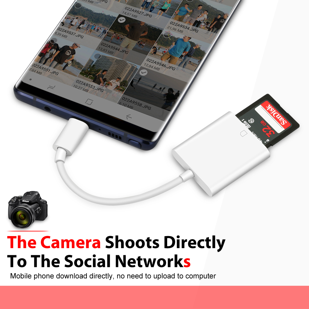 Apple Usb C To Sd Card Reader: USB-C To SD Card Reader Adapter Type-C Apple IPad Pro 2018