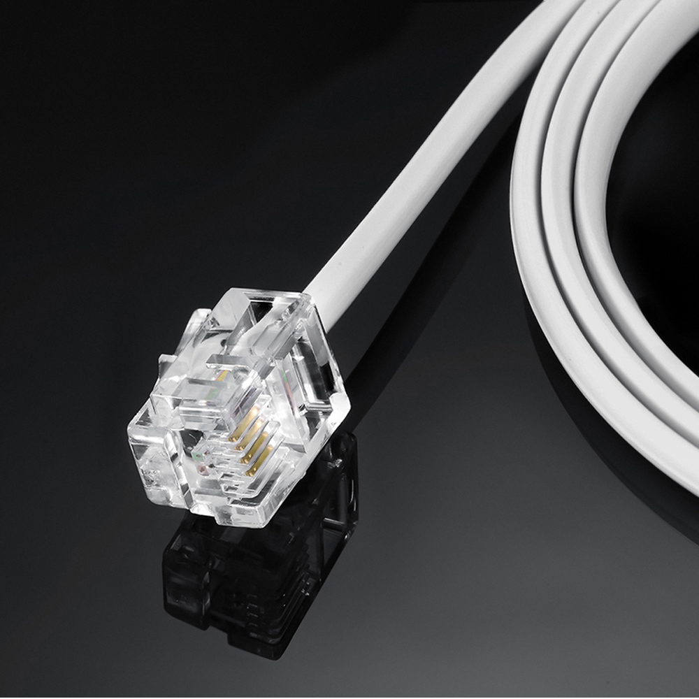 Miraculous 5M 10M 20M Telephone Phone Cable Cord Rj11 Plug Extension Adsl2 Wiring Cloud Peadfoxcilixyz