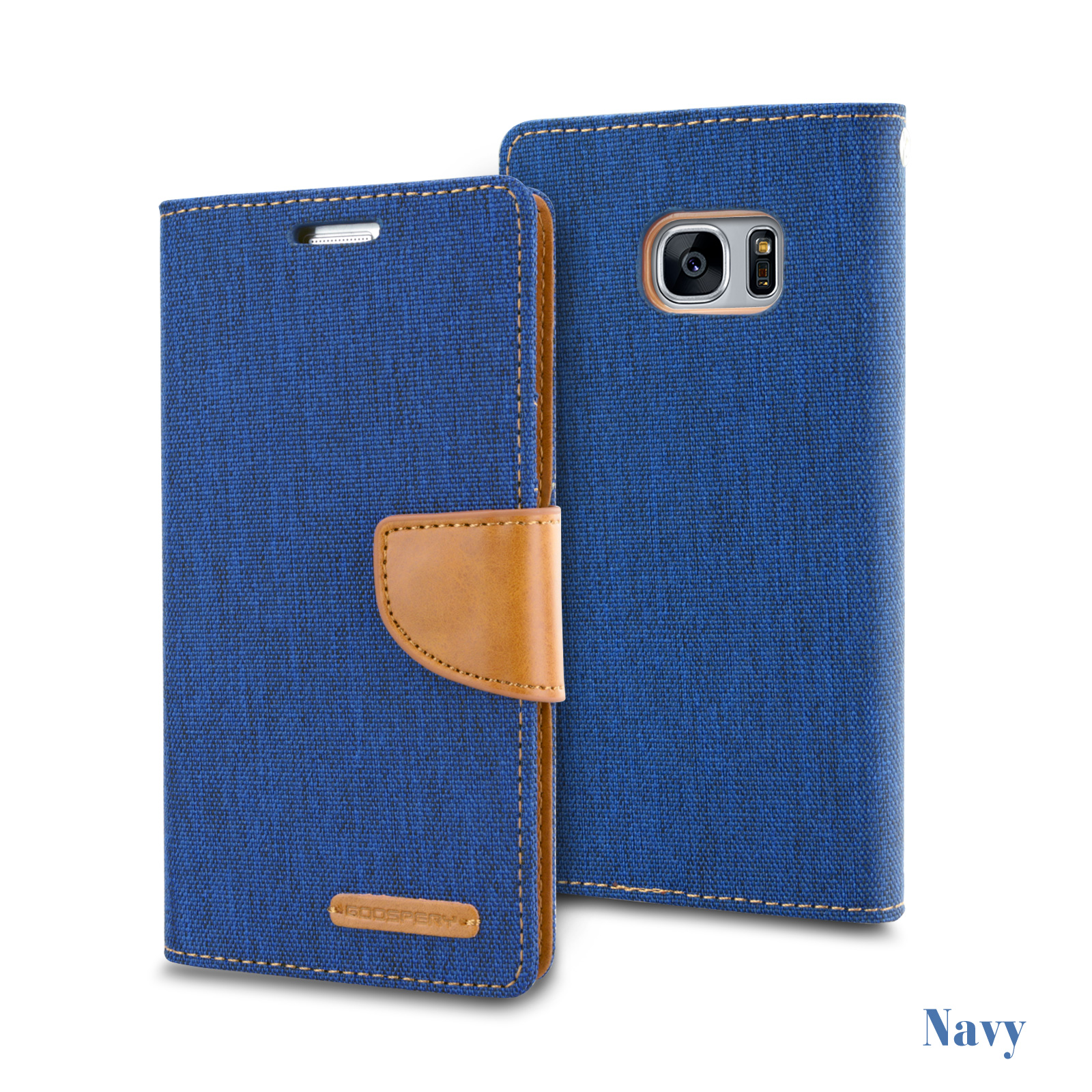 Samsung S7 Edge S5 Mercury Leather Card Wallet Case Cover Goospery Galaxy S6 Canvas Diary Navy For