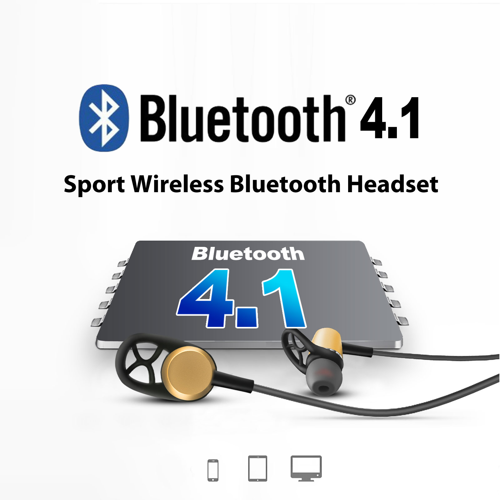 Wireless Bluetooth Earphones Headphones Headset Mic Sport For Mobile Circuit Diagram Premium Earphone Handsfree