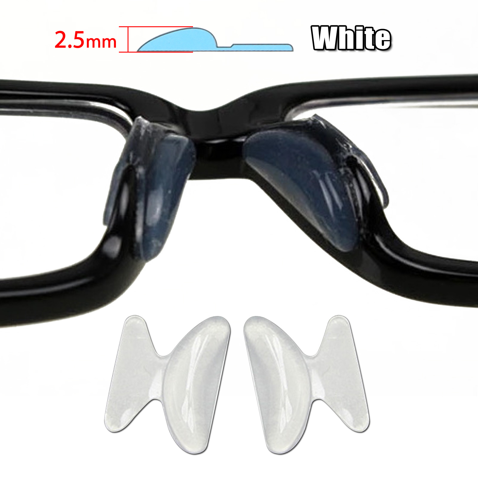 6 Pairs Silicone Anti-Slip Stick On Nose Pads for Eyeglass ...