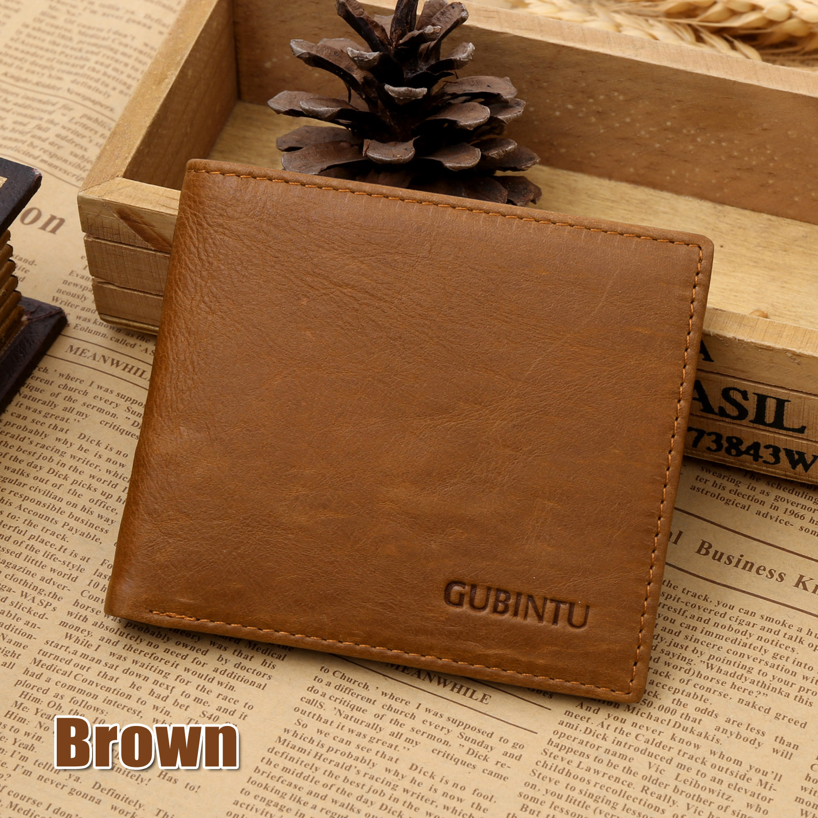 6c3c3574a581 Details about Genuine Leather Mens Purse Bifold Credit Card Wallet RFID  Blocking Anti Scan OZ