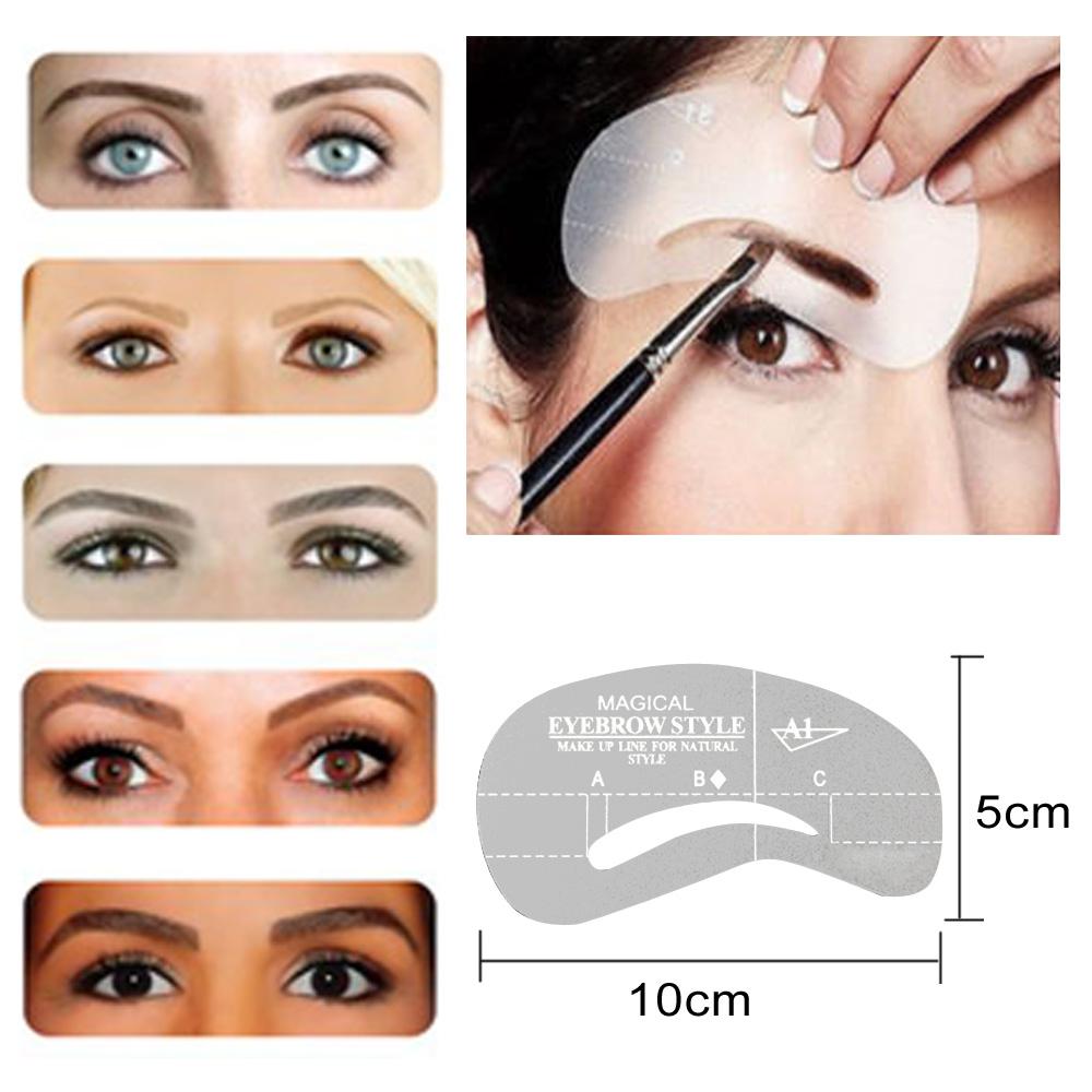 Pretty Eyebrow Templates Images >> Winomo 9 Styles Eyebrow Shaping ...